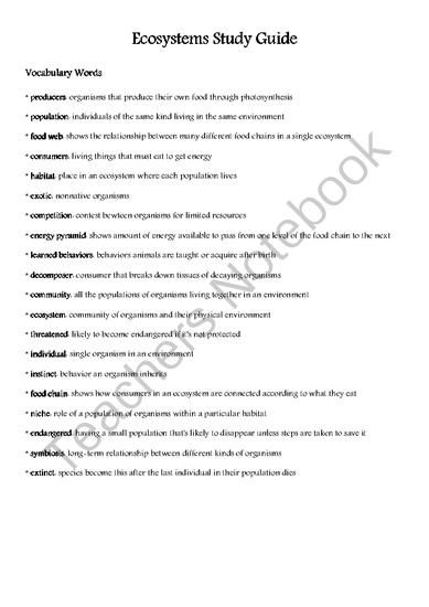 Ecosystems - Practice Test Questions & Chapter Exam ...