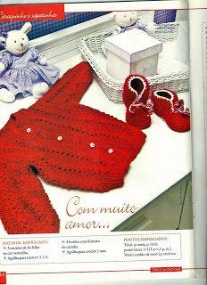 Graça Tricô e Crochê: Casaco de tricô para bebes gráfico