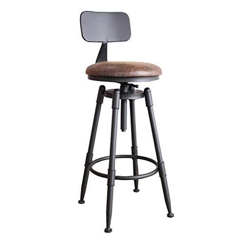 Mmli Barstools Bar Stool Pub Counter Breakfast Bistro Cafe Footrest With Backrest Adjustable 70cm 90cm 360 Swiv Bar Stools Adjustable Bar Stools Buy Bar Stools