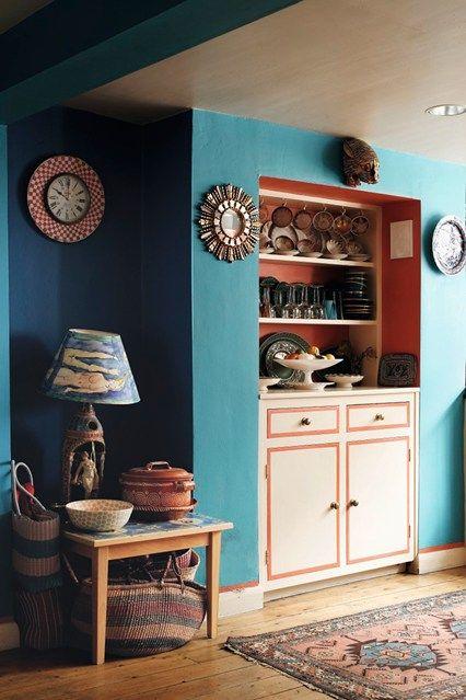 Turquesa y rojo   cocina ideas de diseño   ideas de decoración e ...