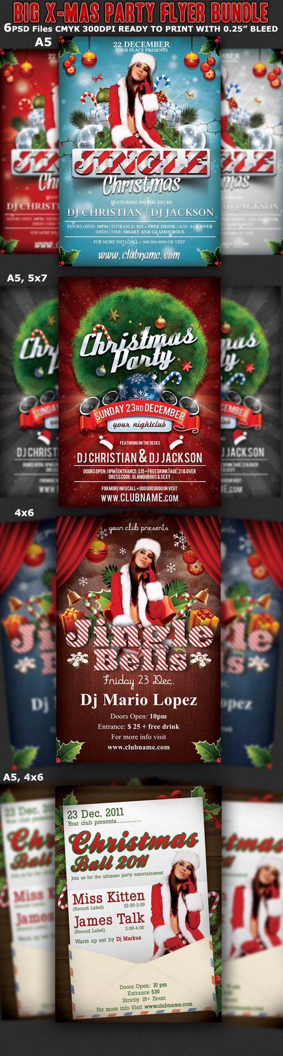 christmas party flyer templates bundle on behance christmas christmas party flyer templates bundle on behance christmas design celebration christmas event flyers