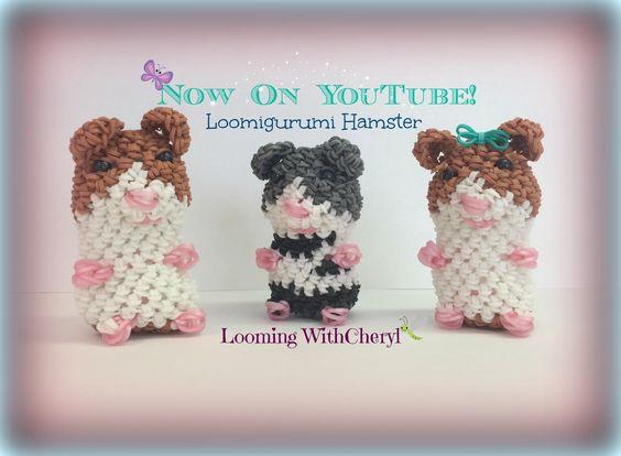 Amigurumi Monster Crochet Patterns : Rainbow Loom Hamster Loomigurumi Amigurumi Hook Only ????? ...