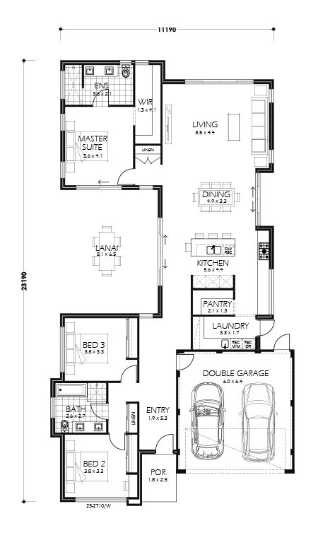 Rancho Mirage Perth Home Design 218sq Millstone Homes Narrow Lot House Plans Home Design Floor Plans Courtyard House Plans