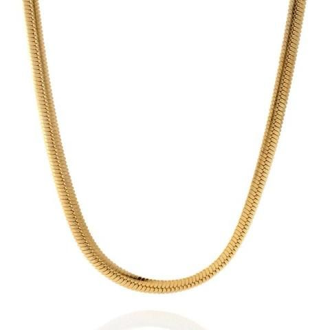 The Bling Factory 3.7mm 14k Gold Plated Stainless Steel Figaro Chain w//Lobster Claw Clasp Jewelry Polishing Cloth