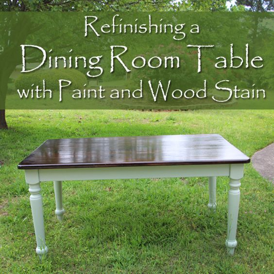 Refinishing A Dining Room Table Impressive Inspiration