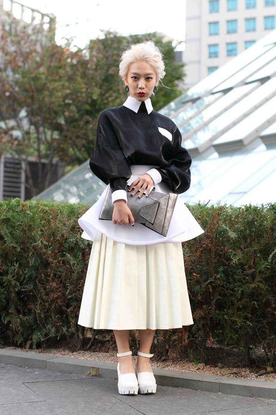 South Korea Street Style - Seoul Fashion Week                                                                                                                                                                                 More