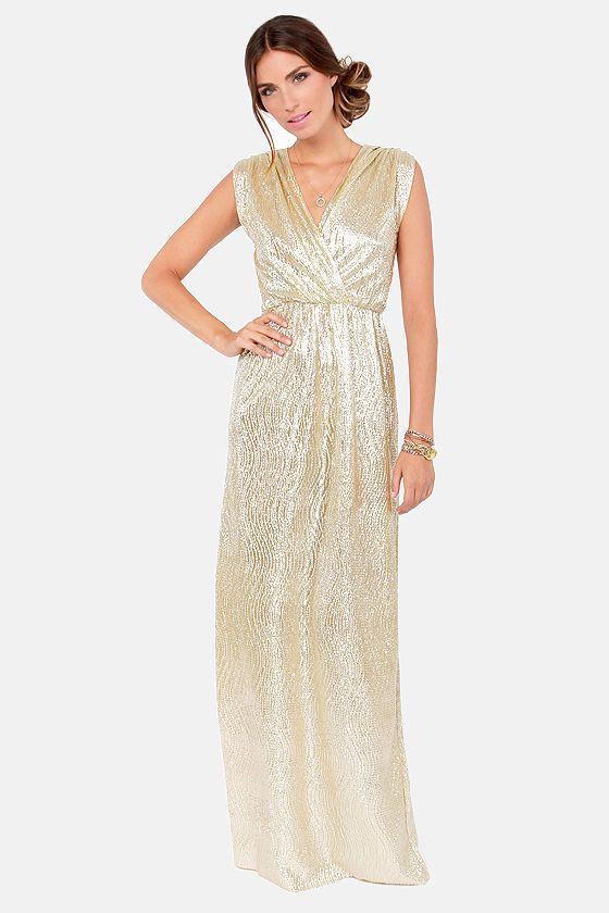 Maxi dresses gold