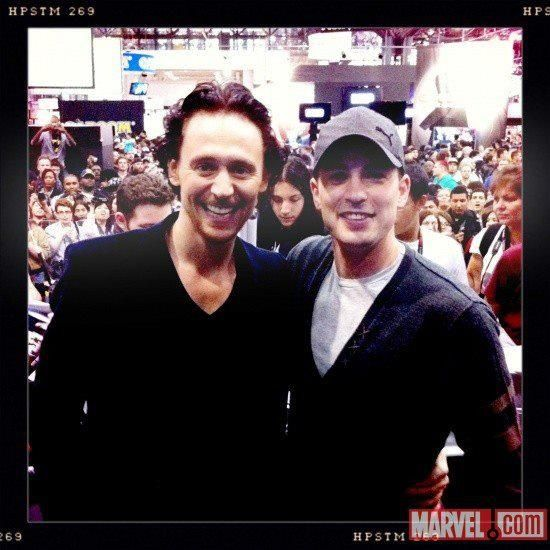 Tom with Chris Evans
