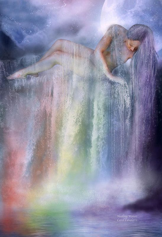 Healing Waters Art Print by Carol Cavalaris. All prints are professionally printed, packaged, and shipped within 3 - 4 business days. Choose from multiple sizes and hundreds of frame and mat options.