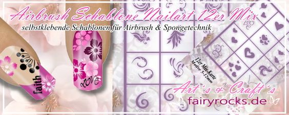 Airbrush Karten - Fairy Rocks