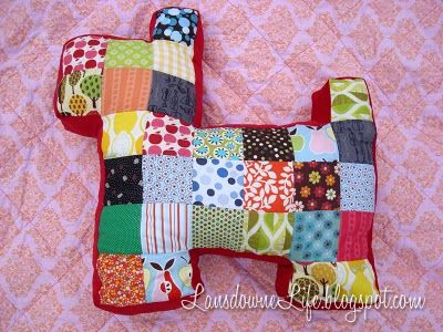 Patchwork Dog  lovely simple idea!