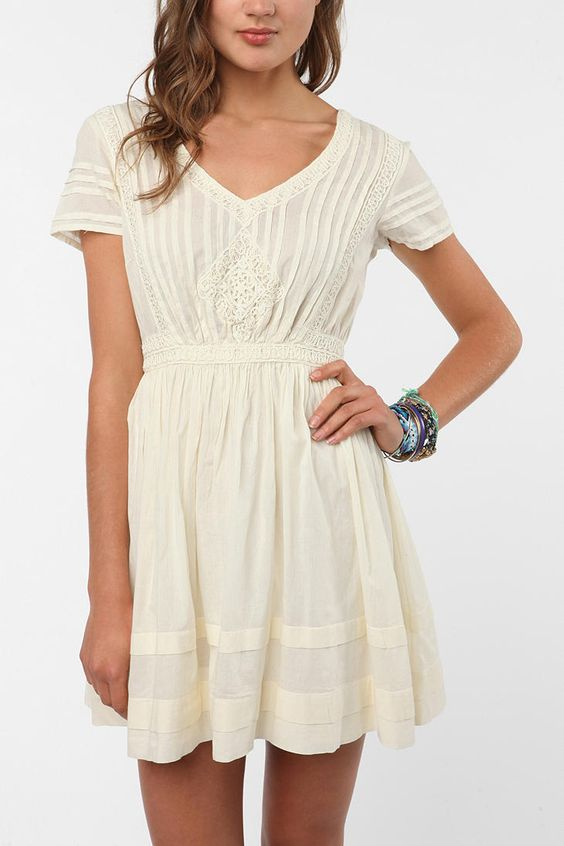 Thistlepearl Victorian Lace Cotton Dress  UrbanOutfitters