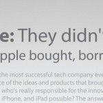 Apple, de ideas robadas, compradas, prestadas…
