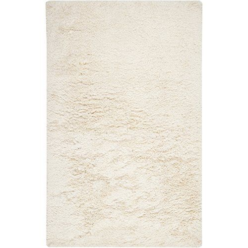 Surya Milan Mil 5003 Shag Hand Woven 80 New Zealand Wool 20 Pol Winter White 2 X 3 Accent Rug Area Rugs Solid Area Rugs Art Of Knot