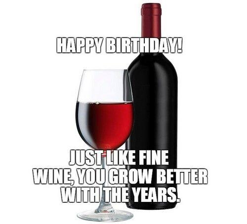 30 Happy Birthday Wine Memes Wishesgreeting Happy Birthday Wine Birthday Wine Funny Wine Bottles