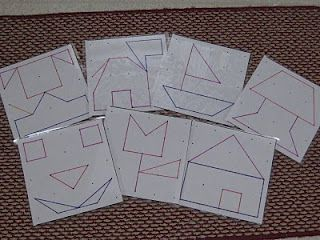 geoboard picture puzzles and also has link for pattern block mats to make vehicles and animals: