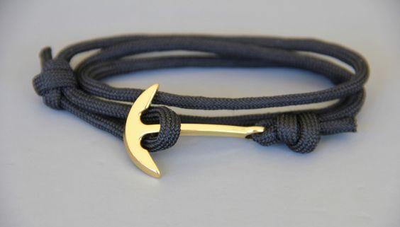 bracelet HOMME ancre marine montée sur paracorde : Bijoux pour hommes par made-with-love-in-aiacciu