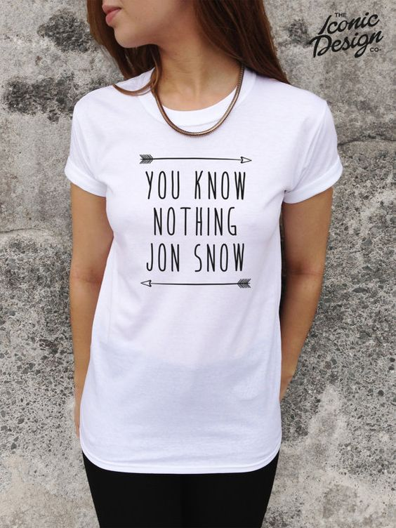 You Know Nothing Jon Snow T-shirt Top Tumblr Fashion shirt on Etsy, £9.99