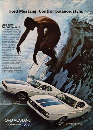 1972 Mustang ad.