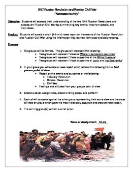 Worksheets Russian Revolution Worksheet activities russian revolution and civil wars on pinterest of 1917 newscast activity the following is a class in which students