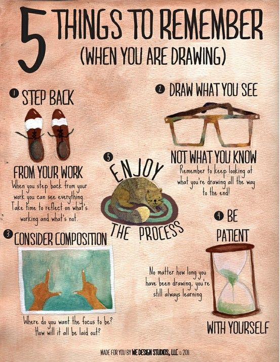 5 things to remember when you are drawing :)
