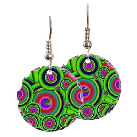 Psychedelic Spiral G Earring on CafePress.com