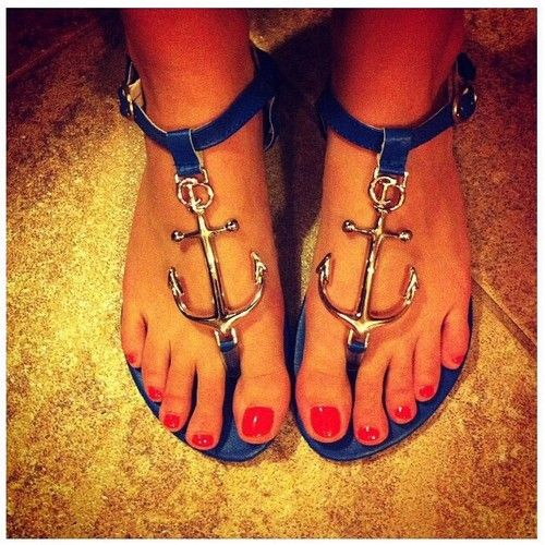 how cute are these for the beach! Anchor Sandals- ONLY $30!!! So cute! wedding shoes??