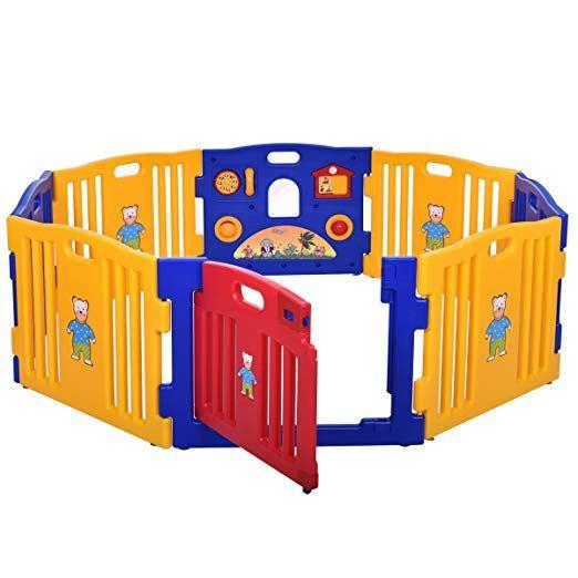 New Pen Baby Playpen Kids 8 Panel Safety Play Center Yard Home Indoor Outdoor