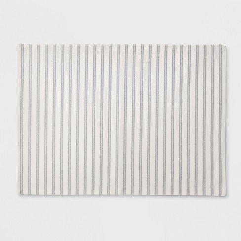 Off White Stripe Placemat Threshold Target Placemats Off White Stripe