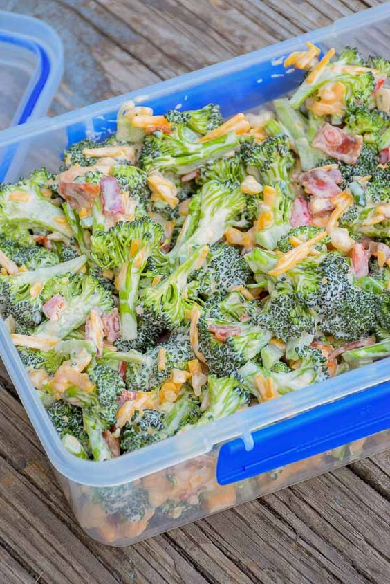 Broccoli Salad With Cheese, Bacon, And Jalapeno