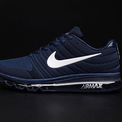 Nike Air Max 2017 Dark Blue White Logo Men Shoes [airmax2017 ...