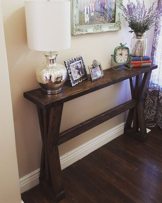Foyer Table Farmhouse : Rustic farmhouse entryway table sofa by