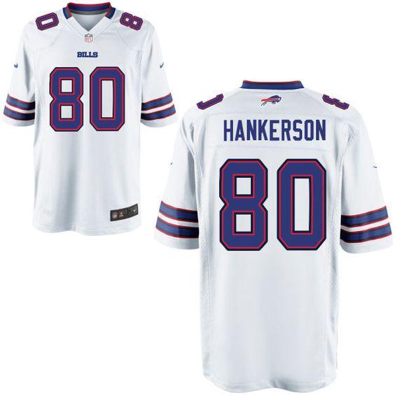 Leonard Hankerson Bills #80 White Game Jersey