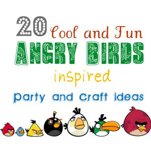 angry birds.  We made our birds out of pom poms and glued eyes and eyebrows.  My kids had fun throwing them at small cups for hours.