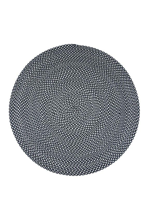 tapis allen coton nattiot tapis rond en coton tress black white nattiot - Tapis Rond Color