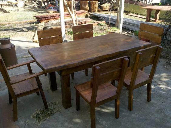 mesa de madera de quebracho colorado.tambien lapacho / cedro