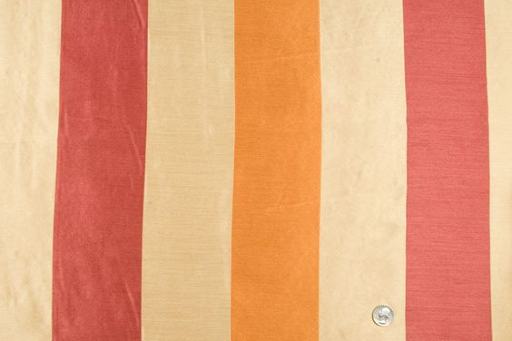 Mood Fabrics : New York Fashion Designer Discount Fabric | HP18102 Cranberry/Pumpkin/Antique Gold Stripes Woven