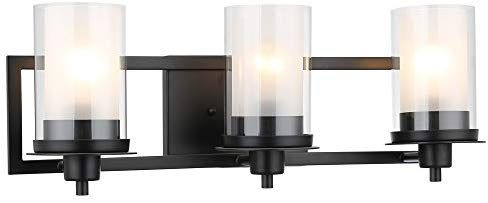 Designers Impressions Juno Matte Black 3 Light Wall Sconce