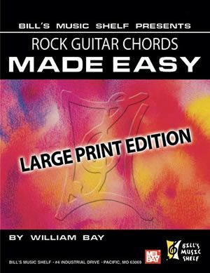 Rock Guitar Chords Made Easy - Large Print Edition (Book)