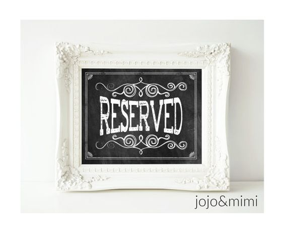 Instant RESERVED Printable 8x10 Wedding Party OR Event by JoJoMiMi