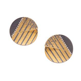 Striped Diamond Earrings