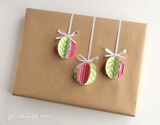 #D Christmas Wrapping - Use Goddess Tape to wrap your Christmas gifts #DIY #Crafts #christmas: