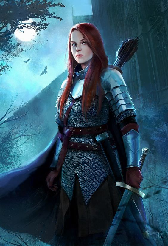 Women in Practical Armor | Female knight, Character portraits, Fantasy  illustration