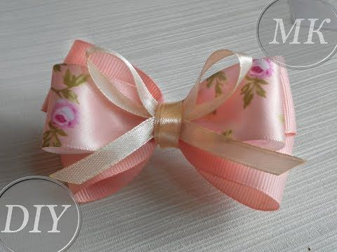 How To Make A Simple Bow Of Narrow Ribbons Diademas Para El Pelo