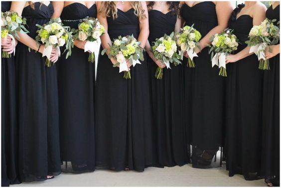 Long Black Bridesmaids Dresses | Michelle Stoker Photography