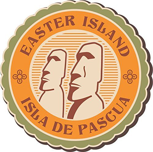 Easter Island Vintage Label Home Decal Vinyl Sticker 12 X 12 Check Out This Great Product This Is Vinyl Stickers Laptop Easter Island Car Bumper Stickers