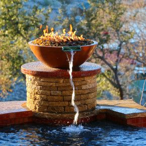 Lake Travis Modern Italian Outdoor Firebowl by Zbranek and Holt Custom Homes