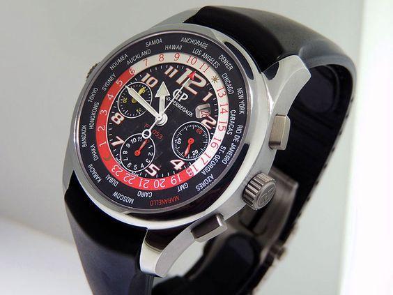 Girard Perregaux WW.TC Pour Ferrari F1 053 Chronograph Titanium $17,800 NOS