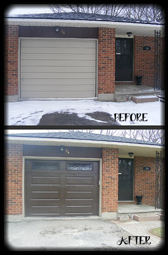 Clopay classic line steel garage door in chocolate brown for Clopay steel garage doors