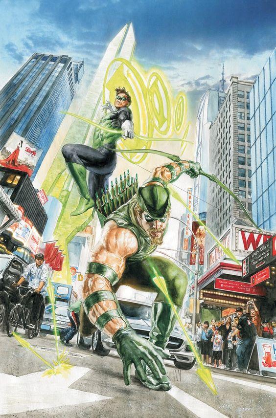 Linterna Verde y Flecha Verde por Alex Ross